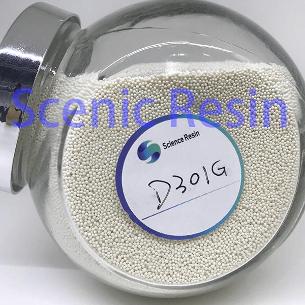 D301G Styrene Series Macroporous Weak Base Anion Exchange