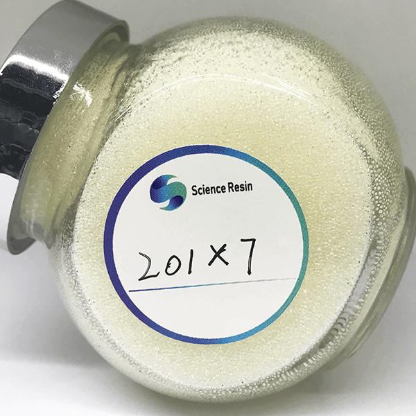 201x7 Styrene Series Gel Strong Base Anion Exchange Resin